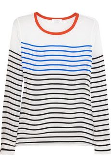 Equipment Liam striped washed-silk top    NET-A-PORTER
