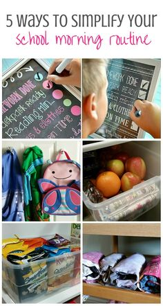 5 time-saving organizational tips for getting the kids out the door to school - Love these ideas!