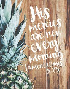 Sus misericordias son nuevas cada mañana lamentaciones 3:23