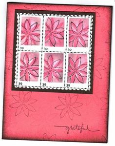 Postage Stamp effect using Stampin Up Simply Said
