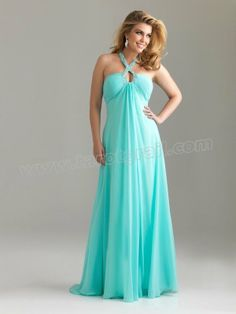 A-line Beading Sleeveless Floor-length Chiffon Evening Dress