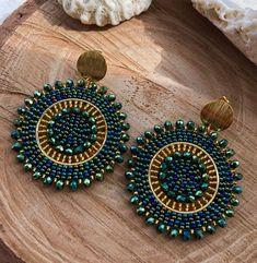 Bead Earrings, Crochet Earrings, Native Beading Patterns, Beaded Jewelry, Handmade Jewelry, Dress Neck Designs, Beaded Crafts, Brick Stitch, Bead Art