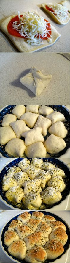 Homemade Pizza Rolls maybe cooked veg or gluten free. Every desserts could be awesome... Yum