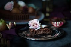 Chocolate Truffle & Pear Tart   Butter Baking