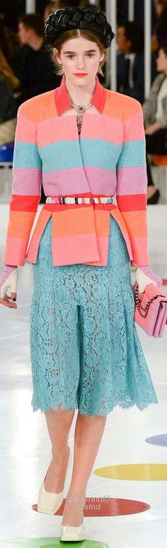 Chanel Resort 2016 -- it looks like lace culottes, I am pretending it is a skirt