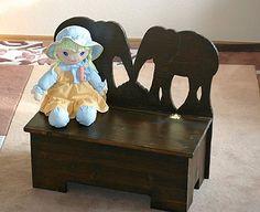 Für Kinder: Sitzbank und Stuhl im Elefantendesign - free templates for kids elephant chair and bench - Anleitung und gratis Bau-Pläne