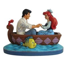 Disney Traditions Little Mermaid Waiting For A Kiss Statue - Enesco - Little Mermaid - Statues at Entertainment Earth
