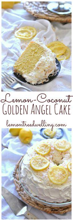 Lemon-Coconut Golden Angel Cake