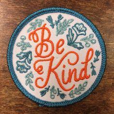 Be Kind Patch by FrogandToadPress on Etsy