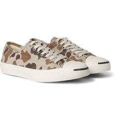 Converse Jack Purcell Camouflage-Print Sneakers | Some cammo is a little overdone but these are fun and dress up or down