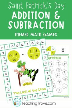 Daily practice of addition and subtraction facts is important for developing and maintaining fact fluency but no child wants to complete a worksheet full of equations! Make them excited to do daily practice with games that focus on improving addition and subtraction fact fluency. Addition and subtraction games are perfect for developing fact fluency. Kids add two or three numbers, add two numbers then subtract, subtract then add, find the missing addend or subtrahend.