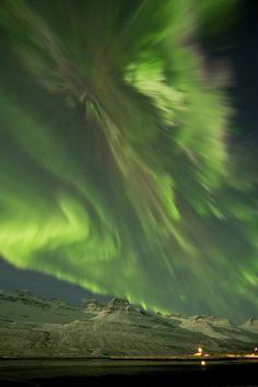 Northern Lights from solar storm this week (3/9/12), over Iceland. Jonina Oskarsdottir
