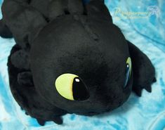 """handmade 53"""" toothless plush. Can someone please make this for me? I'm not that good at sewing..."""
