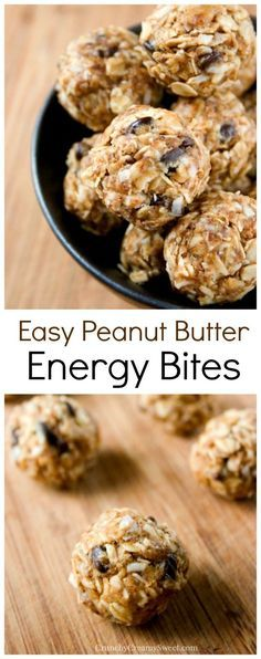 Diet Snacks Peanut Butter Energy Bites - quick and easy bites packed with flavor and so good for you! Great snack for busy days! - Peanut Butter Energy Bites - quick and easy bites packed with flavor and so good for you! Great snack for busy days! Healthy Sweets, Healthy Cooking, Healthy Eating, Peanut Butter Healthy Snacks, Snack Recipes, Cooking Recipes, Healthy Recipes, Healthy Breakfasts, Healthy Meals