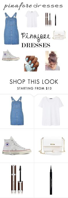 """""""60-Second Style: Pinafores Dresses"""" by vehapi-miralema ❤ liked on Polyvore featuring Topshop, MANGO, Converse, Givenchy, pinafores and 60secondstyle"""