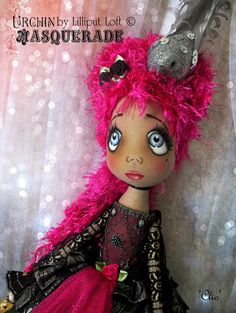 Urchin art doll 'Clio' by Vicki @ Lilliput Loft