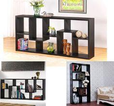 "HomCom 71"" x 32"" Staggered Wood Display Shelf Bookcase - Black HOMCOM http://www.amazon.com/dp/B008IY5NQG/ref=cm_sw_r_pi_dp_ElXVtb0GM9FZEXY0"