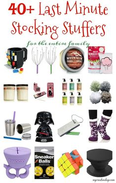 40 Last Minute Stocking Stuffers for the entire family. Forget stocking stuffers this year? These Last Minute Stocking Stuffers for the entire family have you covered and will arrive before Christmas. Christmas Gifts For Teen Girls, Gifts For Teens, Diy Christmas Gifts, Kids Christmas, Santa Gifts, Small Gifts For Men, Christmas Stockings, Handmade Christmas, Holiday Gifts