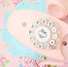 Vintage pastel phone