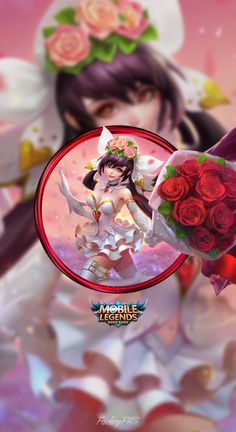 Wallpaper phone layla cannon and roses by fachrifhr mobile legend wallpaper, mobile legends, video Mobiles, Miya Mobile Legends, Moba Legends, Mobile Legend Wallpaper, The Legend Of Heroes, Hanabi, Rose Wallpaper, Mobile Game, Game Character