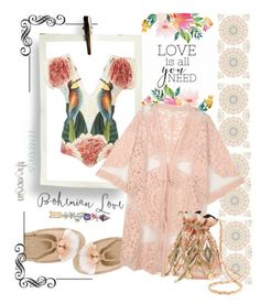 """""""Bohemian swimsuit"""" by cool-cute ❤ liked on Polyvore featuring Brewster Home Fashions, Soludos, Carolina K, Do Everything In Love, Miss Selfridge, boho, Bohemian and bohochic"""