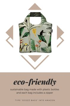 Eco-friendly, sustainable, reusable bag made from plastic bottles.   #ecofriendly #sustainable #sustainablebag #reusablebag #reusablebags #recycledfashion #bagwithzipper #zipperbag #zipperbags Recycled Fashion, Reusable Bags, Zipper Bags, Plastic Bottles, Bag Making, Eco Friendly, Unique Gifts, Shopping, Women