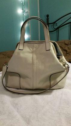 CoachHadleyLeather Duffel Handbag Shoulder Bag F27728 White parchment EUC   fashion  clothing  shoes  accessories  womensbagshandbags (ebay link) c44d9b1241b