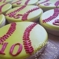 Softballs #cookies #cookier #sugarcookies #royalicing #edibleart…