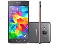 Smartphone Samsung Galaxy Gran Prime Duos 8GB Cinza Dual Chip 3G Câm 8MP + Selfie 5MP Desbl. Tim - Samsung Galaxy Gran Prime Duos - Magazine Luiza