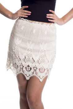 Crochet Lace Skirt | Affordable Junior Clothing & Plus Sized Dresses | Shimmer