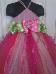 Mod Monkey pink and green tutu dress with by DesignsbyArabesque, $44.00