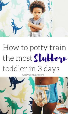 Potty Training a STUBBORN toddler He was a hard kid to potty train the first 6 times that we tried. He would scream when we put him on. Potty training a stubborn toddler is hard! Boy Potty Training Tips, Potty Training Sticker Chart, Training Meme, Potty Training Rewards, Toddler Potty Training, Toilet Training, Training Quotes, Training Schedule, Three Day Potty Training