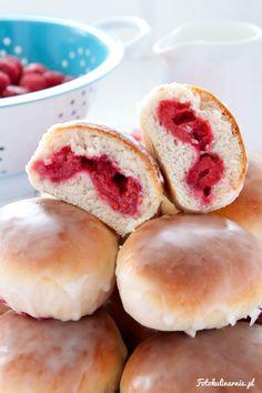 The best recipe for Raspberry Buns - tasty and full of Raspberries.