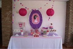 Candy Bar. Comunión rosa y morada para Ana :D delicada y preciosa