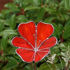 Stained+Glass+Flower+Garden+Ornament+Poppy+by+ShellysGlassStudio,+$22.00