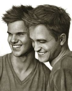 Robert Pattinson, Taylor Lautner. Sketch.