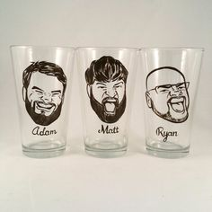 Groomsman Gift – Caricature Glasses – Custom Groomsmen Gift – Will You Be My Groomsman – Vintage Style Caricature Beer Glass Cool Groomsmen Gift Vintage Style Original by crystalpeacestudio Be My Groomsman, Groomsman Gifts, Bridesmaids And Groomsmen, Bridesmaid Gifts, Groomsmen Proposal, Bridesmaid Boxes, Bridesmaid Proposal, Groomsmen Invitation, Groomsmen Ties