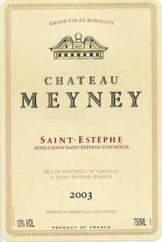 Saint Estephe Chateau Meyney