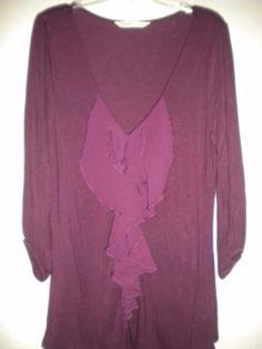 8e118c9b0dc Old Navy Dark Raspberry Women Medium Blouse Size 10 (M) off retail