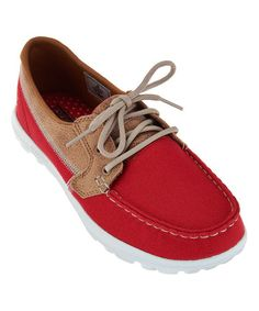 aa552904c1f9 Skechers Red Breezy On-the-GO Goga Mat Boat Shoe
