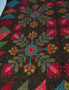 Kim Diehl folk art quilt featured at Textile House