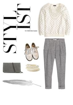 """Pearls & Creme"" by fatalelifestyle on Polyvore featuring MANGO, J.Crew, STELLA McCARTNEY, Chanel and Forever 21"