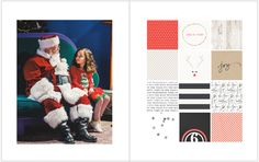 December Daily 2014 Day 6 | A visit with Santa Claus | 8x10 Blurb photo book pocket page layout | yolandamadethis.com