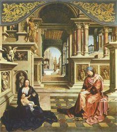 Saint Luke painting the Virgin, c. 1520 -  Jan Gossaert, called Mabuse (Flemish, c. 1478-1532)