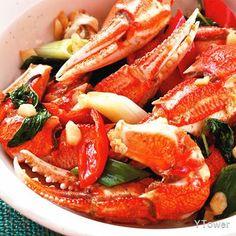 炒蟹腳食譜 - 甲殼類料理 - 楊桃美食網 專業食譜
