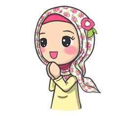 Developer: Imran Ramadhan    Sticker packet name: Flower Hijab (English Ver.)