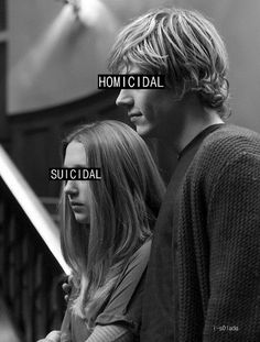 Tate and Violet. I know this couple is a bit crazy and my mom thinks they're really creepy but I can't help but think they're all those things and adorable