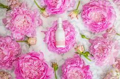 Currently Loving these Beauty Products - Olivia Jeanette Flower Bouquet Peonies Gorgeous Flowers Beauty Review Kopari Rose Toner Spray