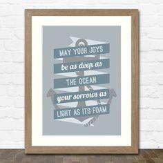 Nautical Quote - Typographic Art Print