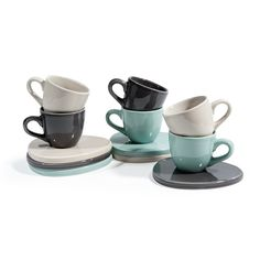 Cofanetto 6 tazze e piattini Etretat